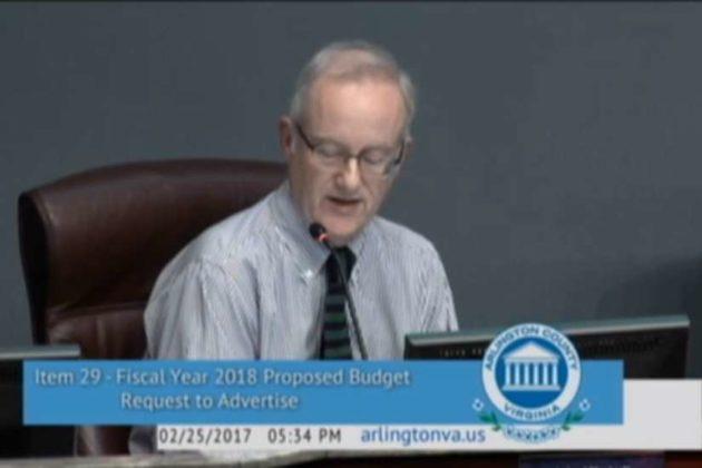 John Vihstadt (screenshot via Arlington County Board meeting)