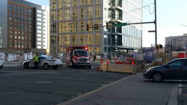 Emergency response and dark traffic lights near Ballston Common Mall (photo courtesy Katie Pyzyk)