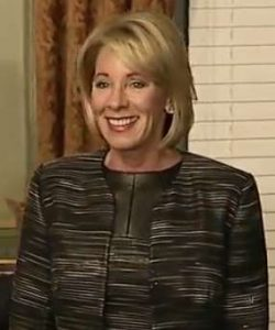 Betsy DeVos (Photo via Wikipedia)