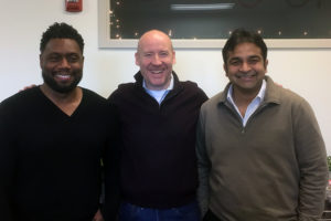 Ostendio founders left to right: Jermaine Jones, COO; Grant Elliott, CEO; Rohit Johri CTO