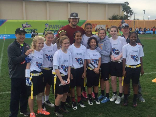 Arlington NFL Flag 14U Girls (photo via Arlington Parks and Rec)