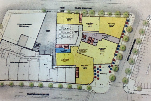 A redevelopment map from a preliminary site plan of Market Common