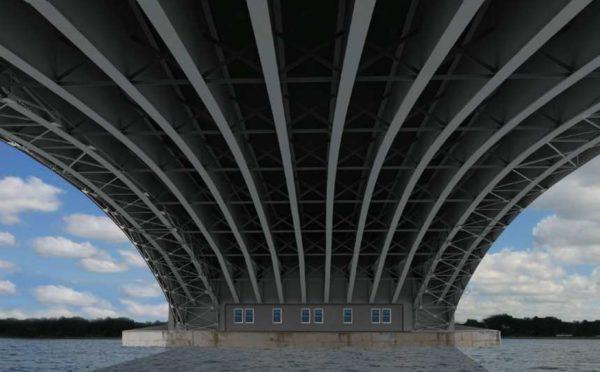 Memorial Bridge design Alternative 1B underside view, photo via NPS