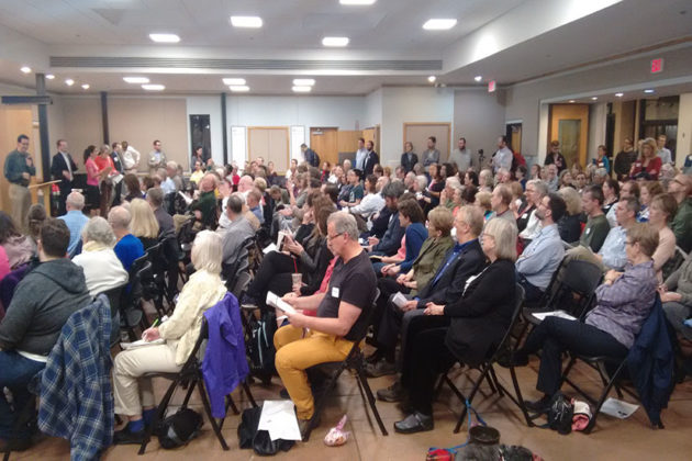 More than 100 people attended the Arlington County Democratic Committee meeting Wednesday to hear from candidates