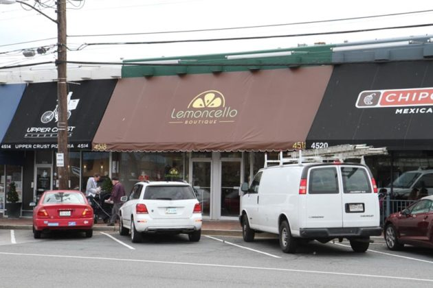 Lemoncello is at 4518 Lee Highway, between The Upper Crust Pizzeria and Chipotle