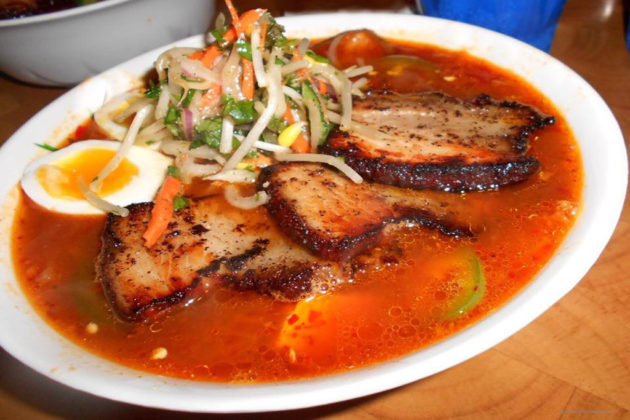 Pork belly BBQ ramen (via Facebook)