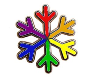 "LGBT rights ""snowflake"" pin"