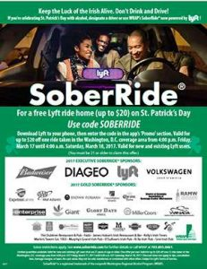 SoberRide announced a partnership with ride-hailing app Lyft last week (courtesy Washington Regional Alcohol Program)
