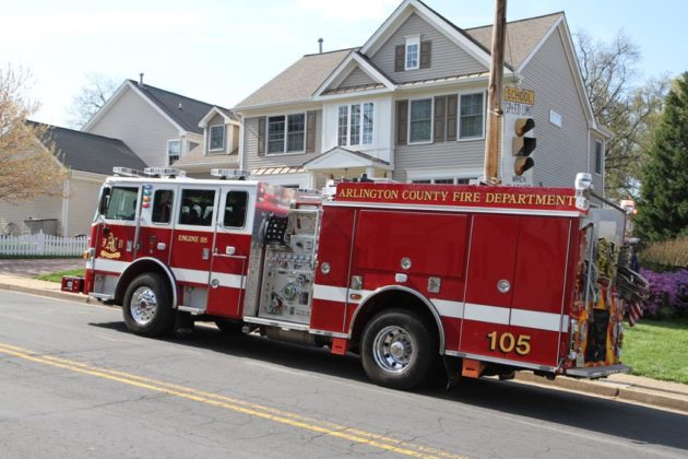 The fire department responded to the area