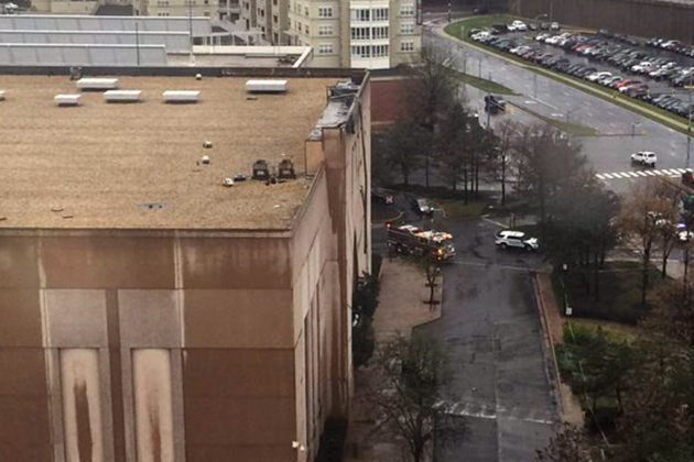 Storm damage to Macy's in Pentagon City (photo courtesy David L.)