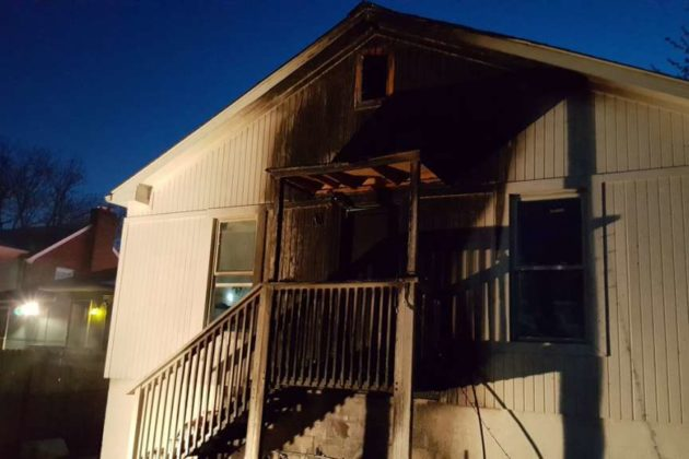 House fire on N. Stuart Street on 4/8/17 (Photo via Arlington County Fire Department)
