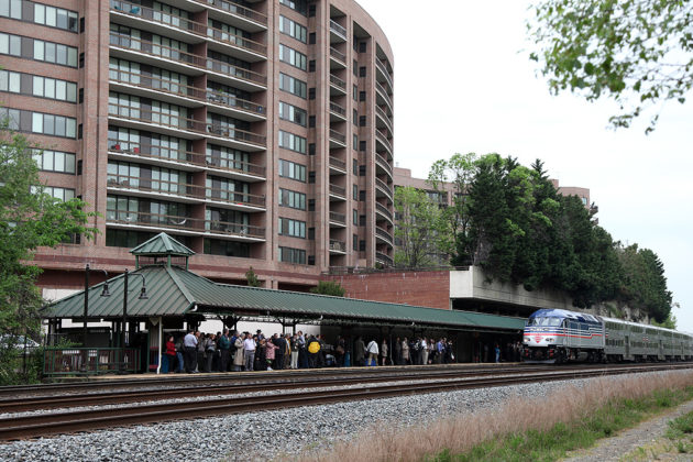 The Crystal City VRE station is located at 1503 Crystal Drive (photo via VRE)
