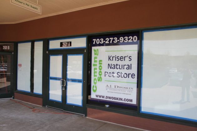 Kriser's Natural Pet Store will move into the Lee-Harrison Shopping Center