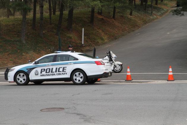 Arlington police blocked off Patrick Henry Drive