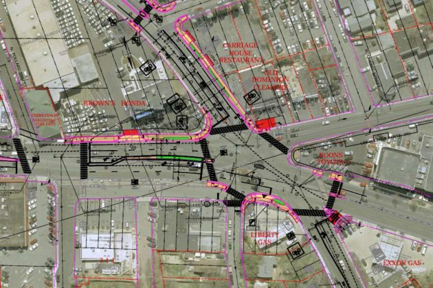Plans for five-way intersection in Cherrydale (via Arlington County)