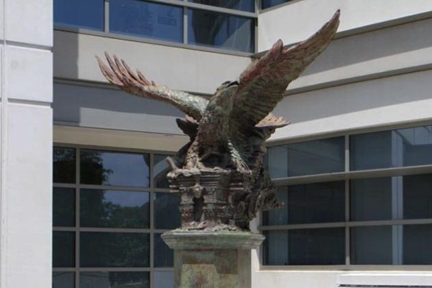The eagle was designed by New York-based sculptor Greg Wyatt