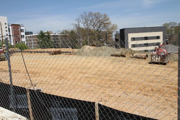 Crews clear ground on N. Rolfe Street for Gables Pointe 14 (file photo)