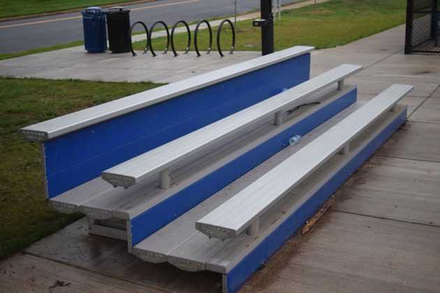 Bleachers for spectators have been given a facelift