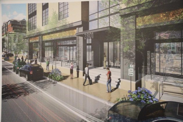 The office building at 2801 Clarendon Blvd will have new retail added to it