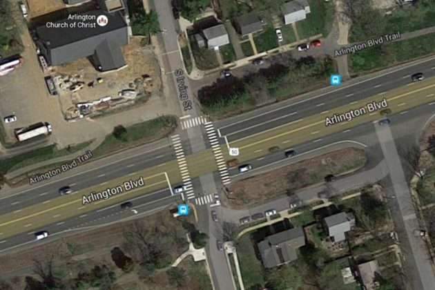 The intersection of Arlington Blvd and N. Irving Street (photo via Google Maps)