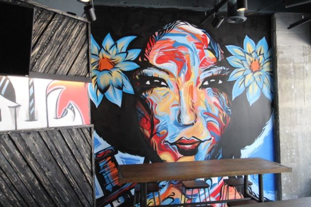 The murals tell a story right through the restaurant