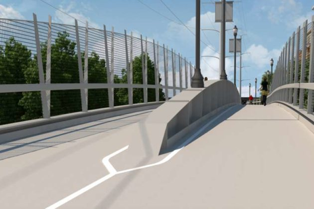 The bridge will be 20 feet wide (image via VDOT)