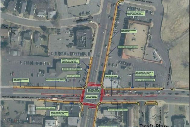 A draft plan of improvements at Lee Highway and N Glebe Road