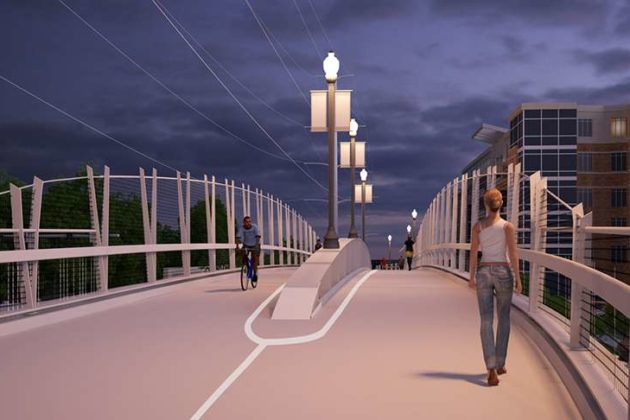 Still of concern are the acorn lights in the bridge's center (image via VDOT)