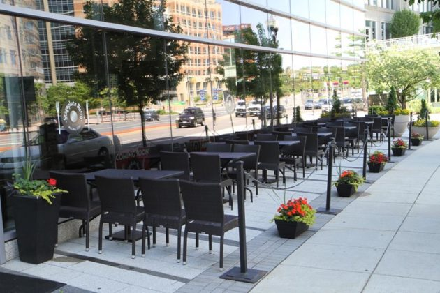The outdoor patio will seat 28, in addition to 125 inside