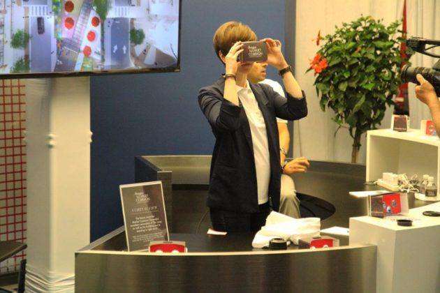 Attendees could look at the new Market Common in virtual reality