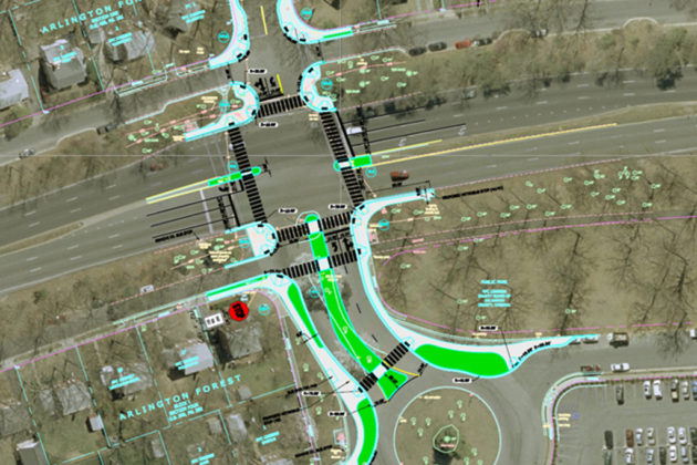 The County Board will consider a plan to revamp an intersection of Route 50