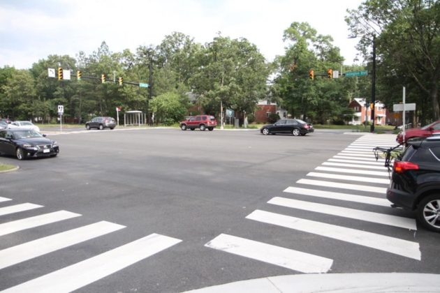County staff estimate that 64,000 vehicles pass through the intersection each day