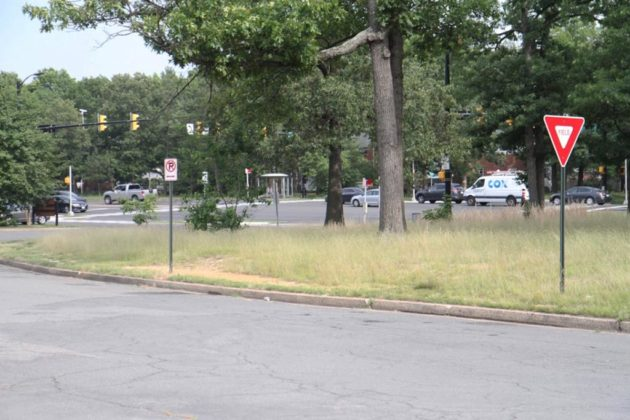 The construction would add new sidewalks near the traffic circle