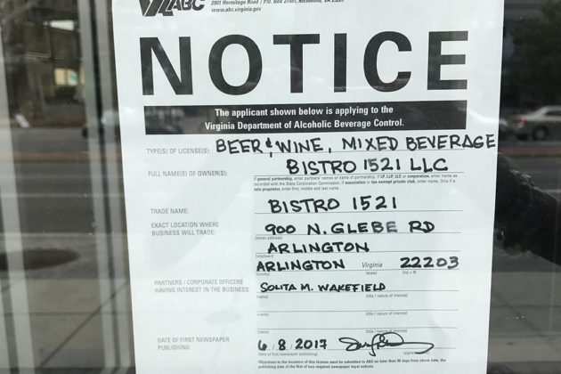 The former Applebee's in Ballston will be replaced by Bistro 1521
