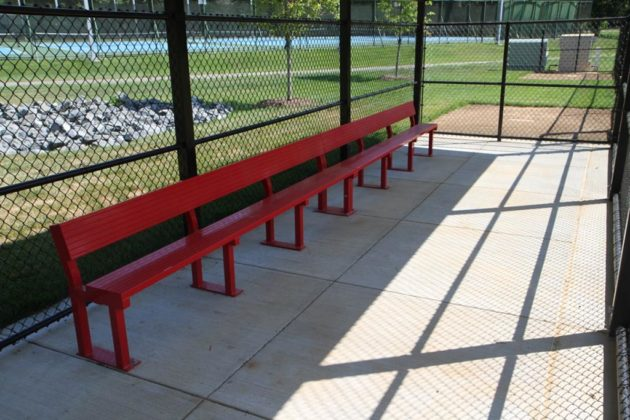 The field also got new dugouts for teams