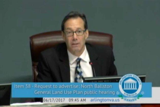 County Board chair Jay Fisette