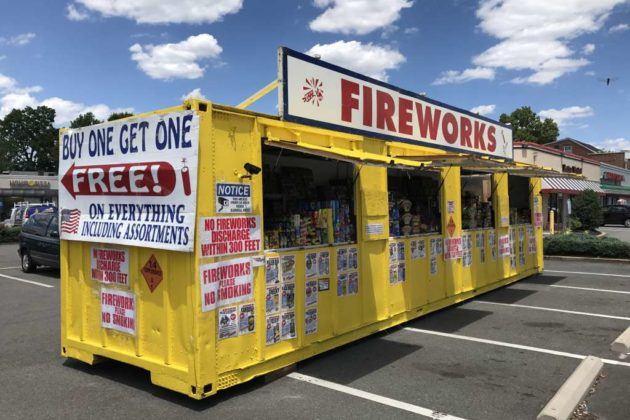 Fireworks stand along Columbia Pike