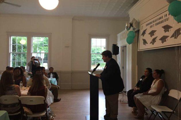 Del. Alfonso Lopez (D) gives a speech