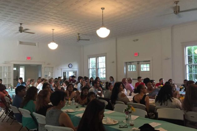Students, mentors and parents gathered to celebrate Monday night