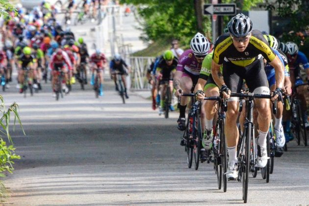 Ryan DeWald leads the way in a spring finish (courtesy photo)