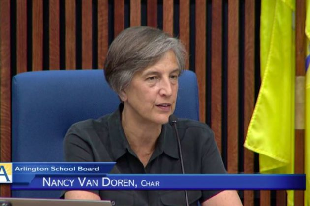 School Board member Nancy Van Doren