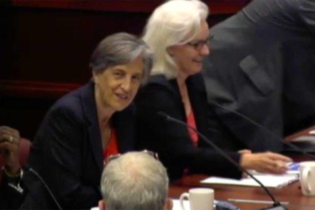 School Board chair Nancy Van Doren