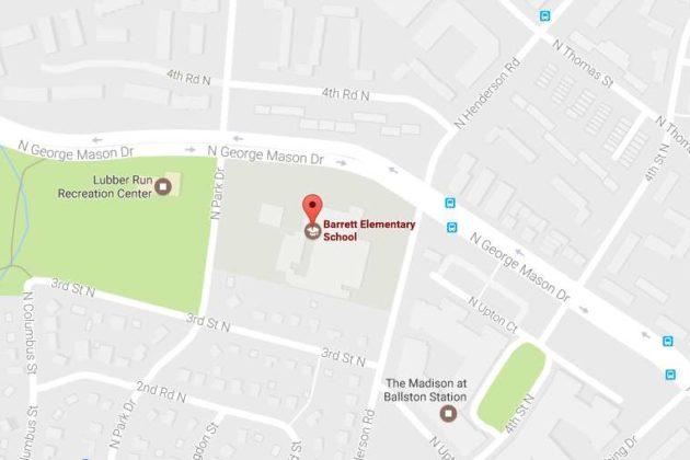 Map showing Barrett Elementary School (via Google Maps)