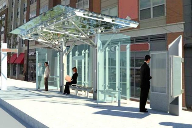 Planned bus stops for the Premium Transit Network (via Arlington County)