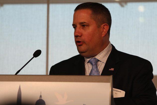 John Poplawski, Wawa's senior director of site acquisition and development, speaks at Newseum
