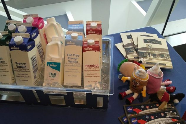 Wawa-branded food at the Newseum event