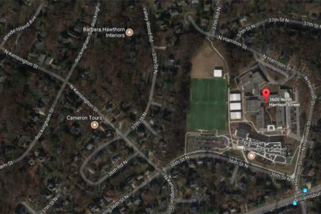The schools are located in the Rock Spring neighborhood (image via Google Maps)