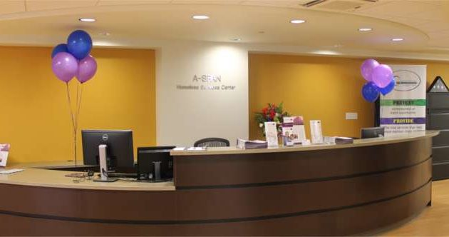 The center's lobby.
