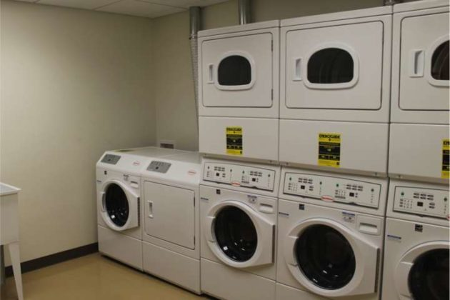 The center's laundry room.