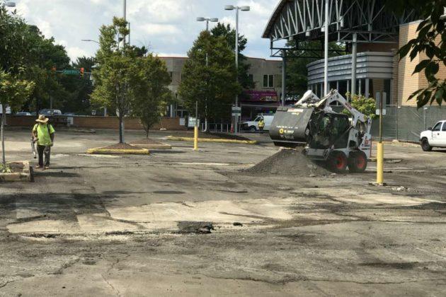 Clarendon Whole Foods parking lot resurfacing